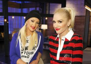 "THE VOICE -- ""Top 8 Mentors"" -- Pictured: (l-r) Christina Aguilera, Gwen Stefani -- (Photo by: Trae Patton/NBC)"