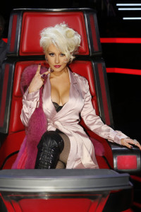 "THE VOICE -- ""Live Top 12"" Episode 1013B  -- Pictured: Christina Aguilera -- (Photo by: Trae Patton/NBC)"
